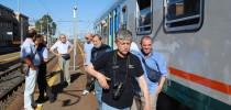 Appassionati inglesi visitano le ferrovie della Sicilia e la Stazione di Porto Empedocle C.le