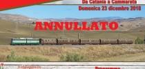 ANNULLATO – DOMENICA 23 DICEMBRE 2018 TRENO STORICO DA CATANIA A CAMMARATA